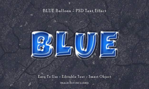 Blauw ballon teksteffect
