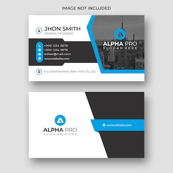 Blauw creatief visitekaartje
