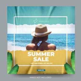 Blauw gescheurd papier fashion sale instagram postfeed