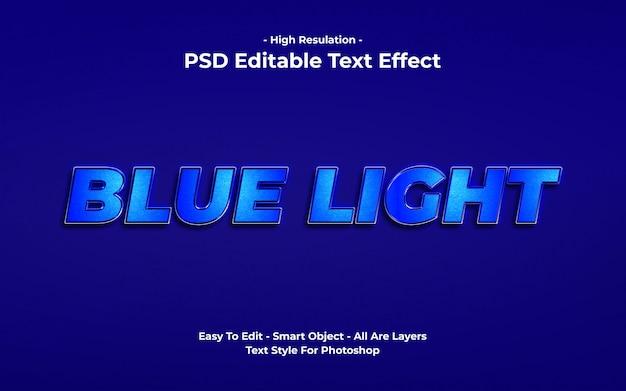 Blauw licht stijl teksteffect