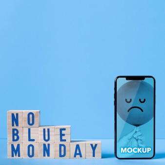 Blauw maandag concept met mock-up
