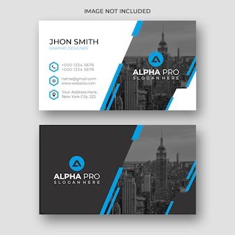 Blauw modern visitekaartje
