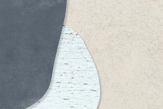 Blauw patroon op beige achtergrond vector