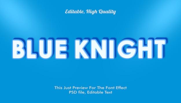 Blauw ridder lettertype effect mockup