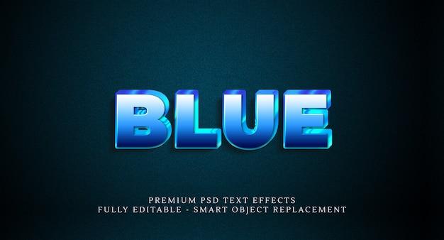 Blauw tekststijleffect psd, premium psd-teksteffecten