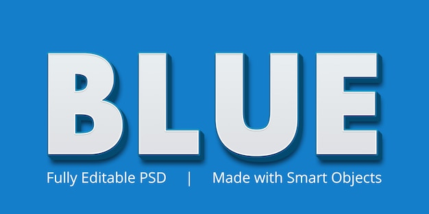 Blauw tekststijleffect