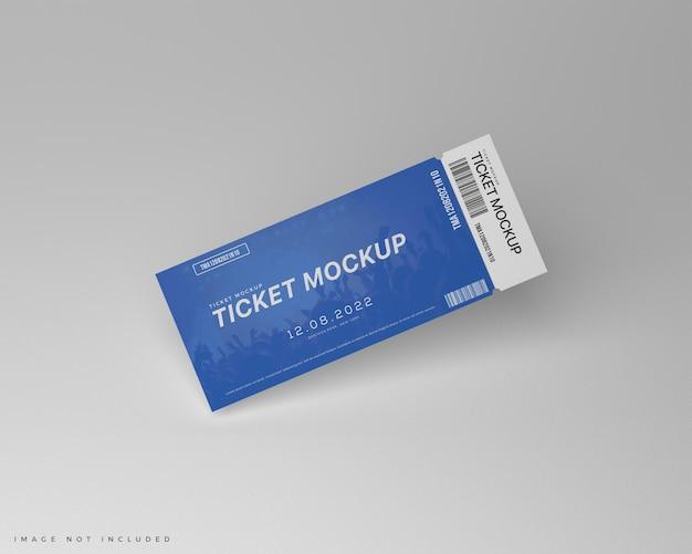 Blauw ticket voucher mockup