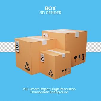 Blauwe geschenkdozen met wit lint. 3d illustratie