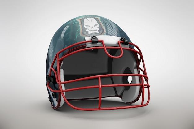 Blauwe helm mock up