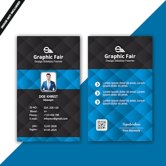 Blauwe identiteitskaart