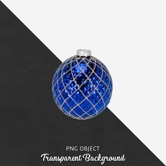 Blauwe kerstbal op transparant