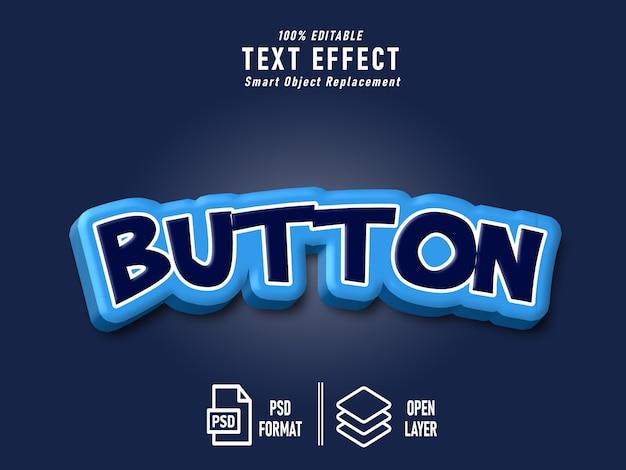 Blauwe knop teksteffect