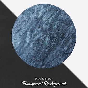Blauwe marmer gevormde dienende plaat op transparante achtergrond