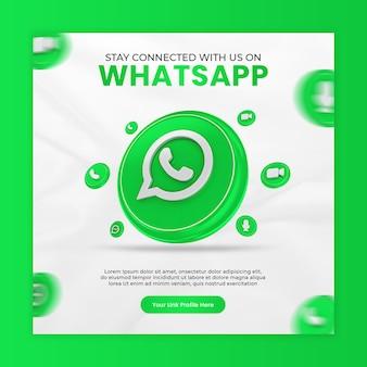 Blijf met ons in contact via whatsapp-sjabloon