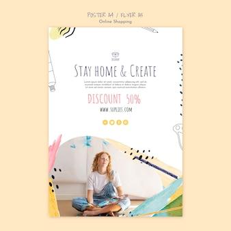 Blijf thuis en maak een flyer-sjabloon voor artiesten