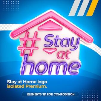 Blijf thuis in 3d-weergave