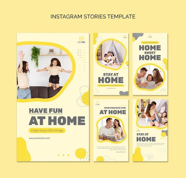 Blijf thuis op social media-verhalen