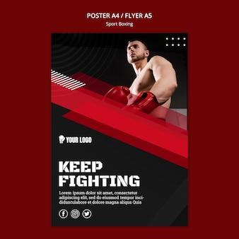 Blijf vechten met flyer-afdruksjabloon