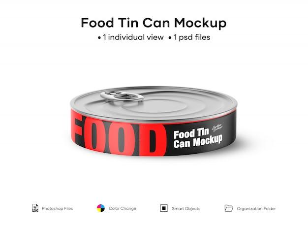 Blikje voor voedsel mockup