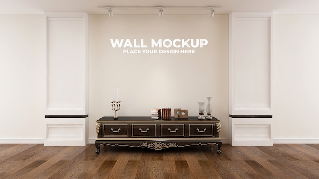 Blinde muur in elegant houten kantoormodel