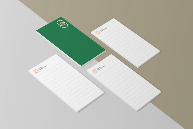 Blocco note psd mockups