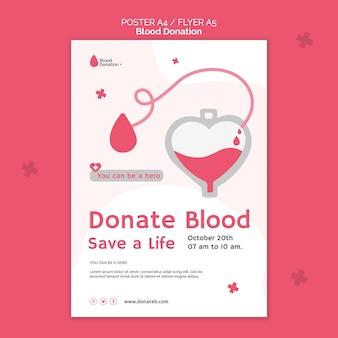 Bloeddonatie afdruksjabloon geïllustreerd