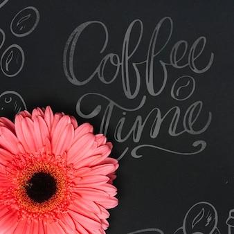 Bloem op blackboard