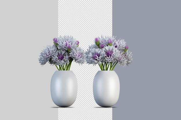 Bloemen in 3d-rendering geïsoleerd