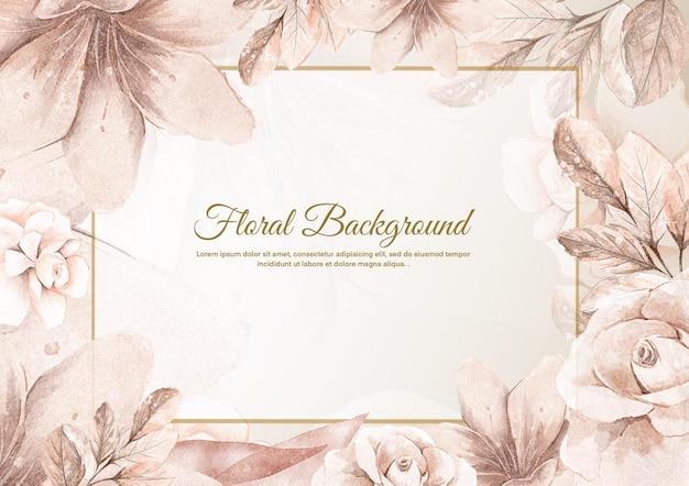 Bloemenachtergrond met roze gouden bloem