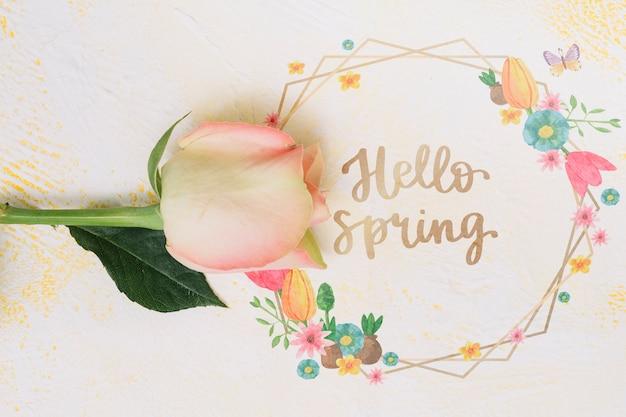 Bloemenkadermodel voor de lente