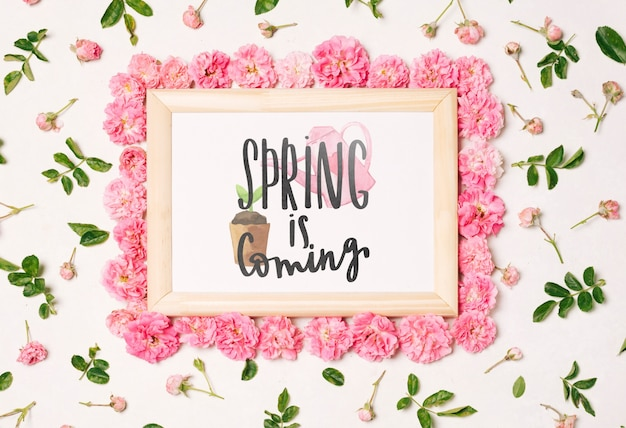 Bloemenkadersamenstelling voor de lente