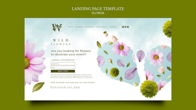 Bloemenwinkel websjabloon