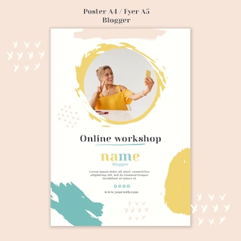 Blogger concept poster stijl