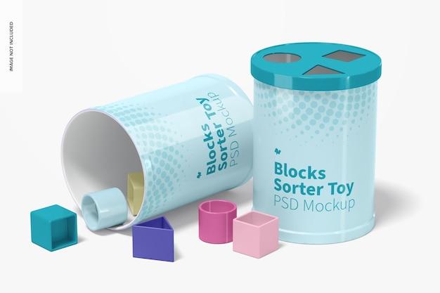 Blokken sorter speelgoed mockup