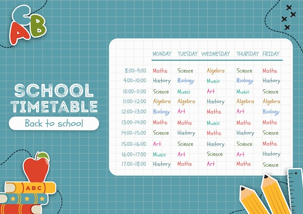 Blue back to school-tijdschema