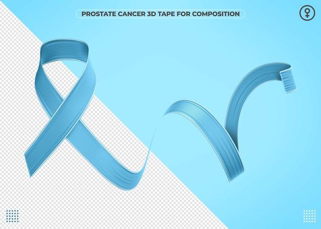 Blue november realistische 3d-tape voor composities