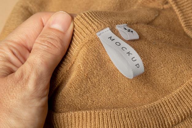 Blusa de maqueta de cerca
