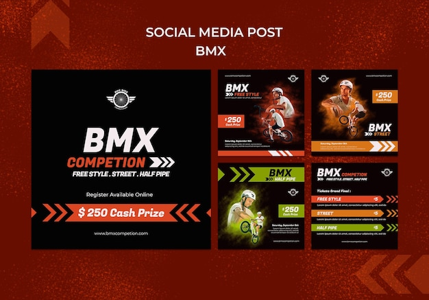 Bmx-berichten op sociale media
