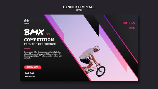 Bmx competitie banner sjabloonstijl