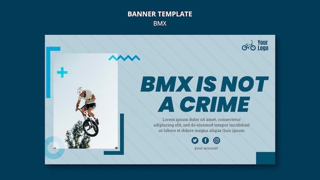 Bmx winkel advertentie sjabloon voor spandoek