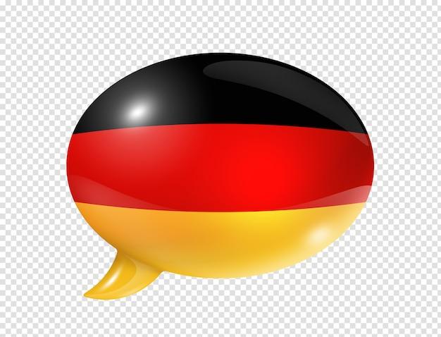 Bocadillo de diálogo de bandera alemana