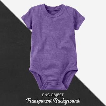 Body morado transparente para bebé o niños.