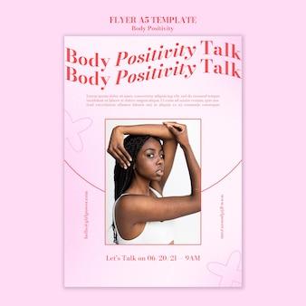 Body positieve flyer-sjabloon