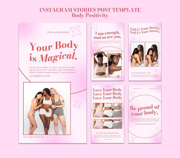 Body positieve social media-verhalen