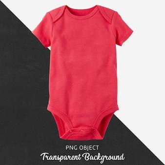 Body rojo transparente para bebé o niños.