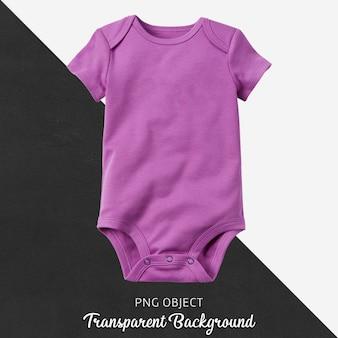 Body trasparente viola per neonati