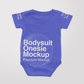 Bodysuit onesie back mockup