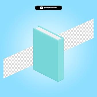Boek 3d render illustratie geïsoleerd