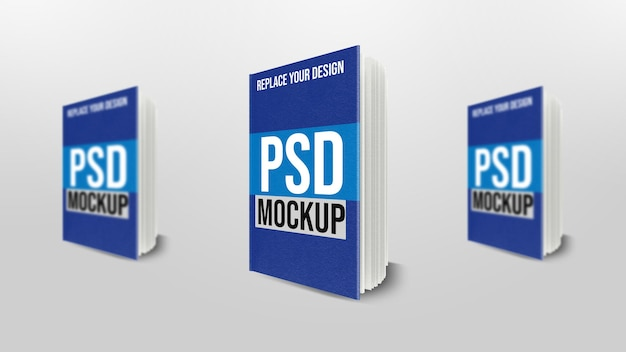 Boek 3d-rendering mockup-ontwerp