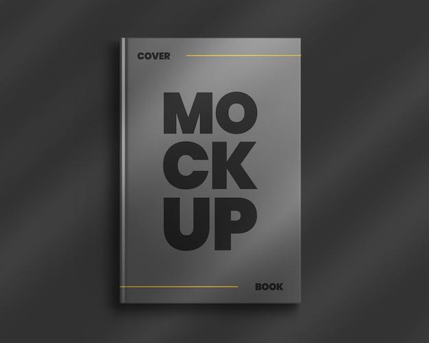 Boek hardcover mockup met schaduw